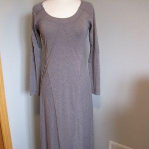 Athleta Gray  Heathered  Weekender Maxi Dress